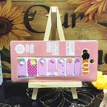 Pink Orange Bear cat child Nail Arts Nail Sticker Waterproof Nail Decal Sticker Gel Polish French