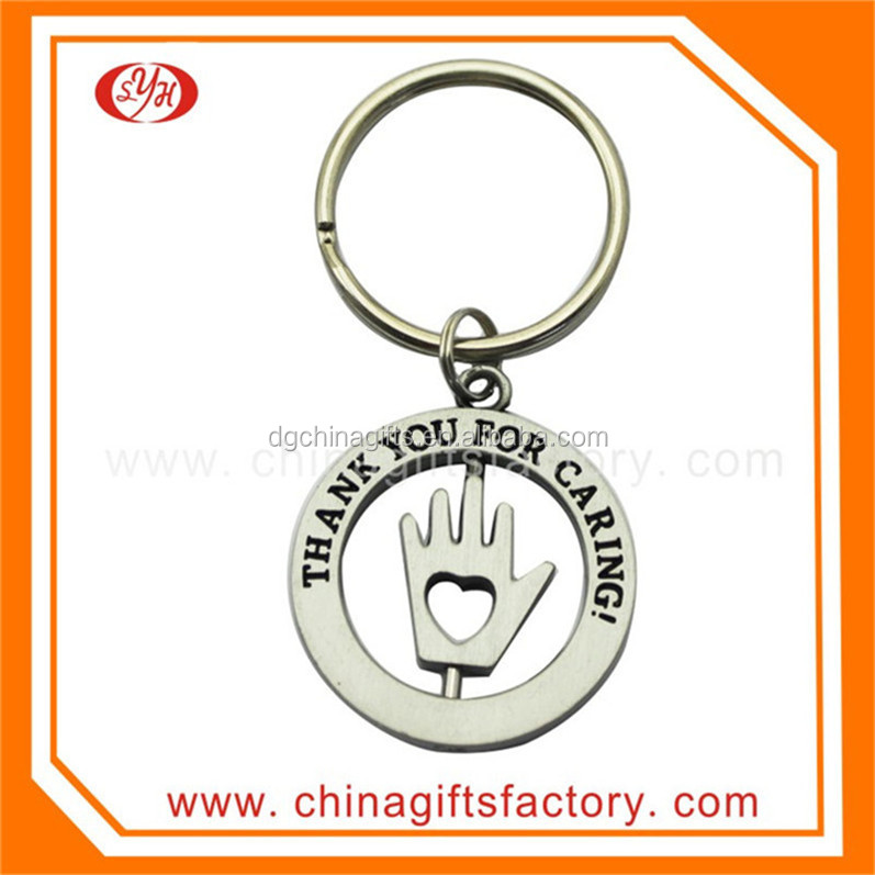 High quality custom metal spin keychain for promotional gifts