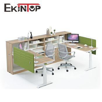 Ekintop Space Saving Office Furniture 2 Person Office Workstation For Small Office Buy Office Furniture 2 Person Office Workstation Product On Alibaba Com
