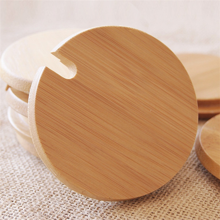 Natural Bamboo Lid for cup wooden bowl cover