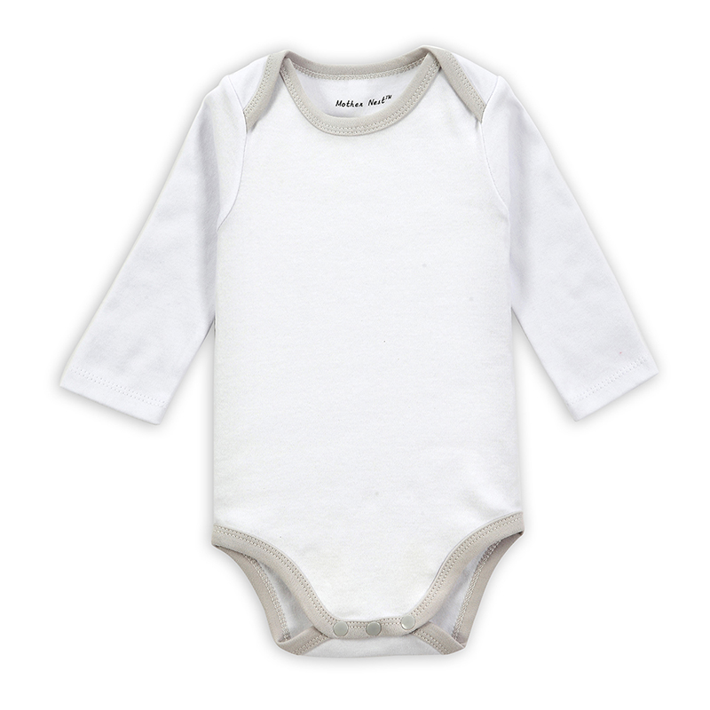 Infant and children clothing spring baby romper blank cotton baby long sleeve bodysuit