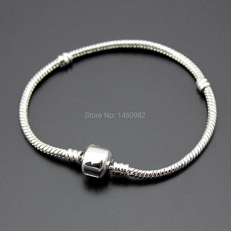 Pandora Mens Jewelry: Women Mens European 3mm Silver Plated Snake Chain