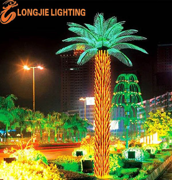 Led Light Holiday Outdoor Decorative Oil Palm Tree Lights Hanging Artificial Product On