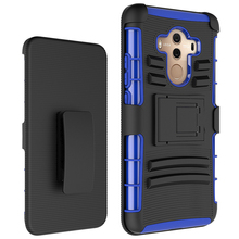 High Quality Kickstand Mobile Phone Case For Huawei Mate 10 Pro Holster Combo Back Cover