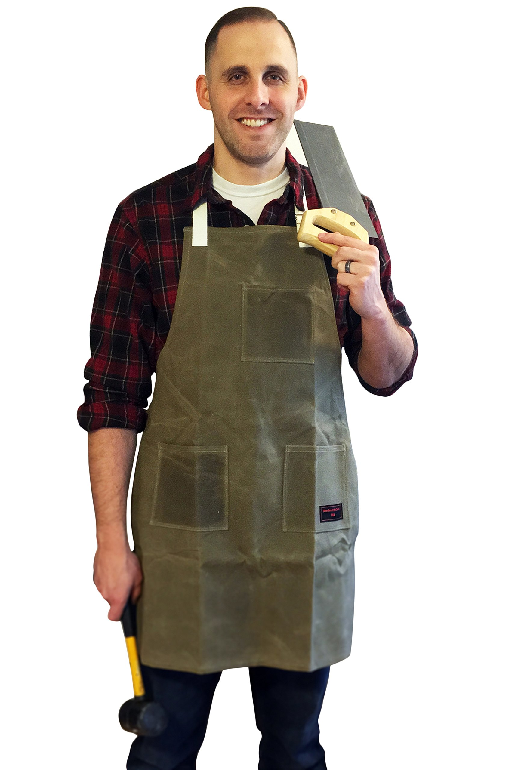 Wooden It Be Good Woodshop Waxed Canvas Utility Apron