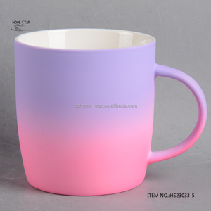 New Bone China Two Tone Souvenir Soft Touch Rubber Coated Mug