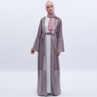 2019 Muslim Ramadan long skirt cardigan summer dress Arab women clothing