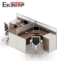 Fancy cheap classic designer timber simple t shaped office working desk for 2 people