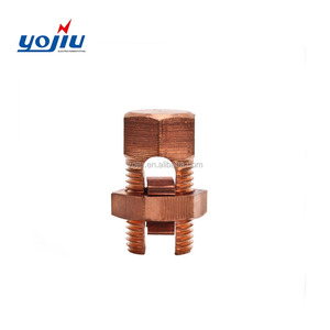 B/C Yojiu Grounding Copper Alloy pg Line Tap Connectors Copper Split Bolted Connector