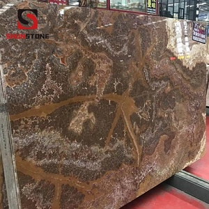 Dark brown and black onyx slab Cheap Nature onyx and jade slabs