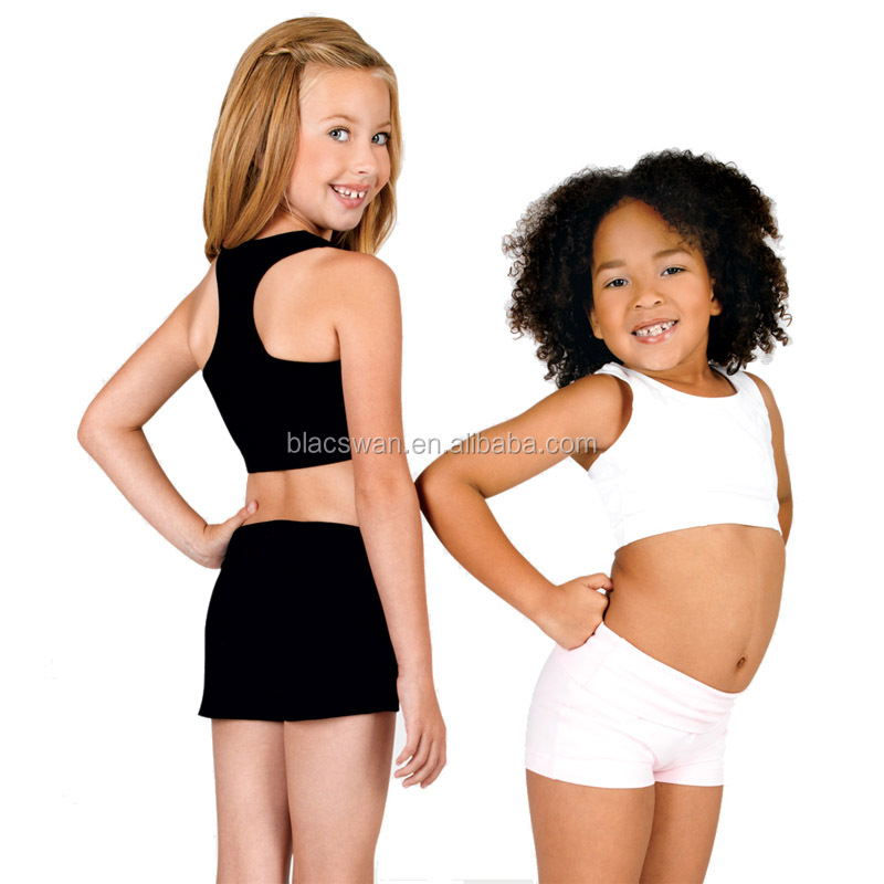 children racer back dance tops dance crop tops