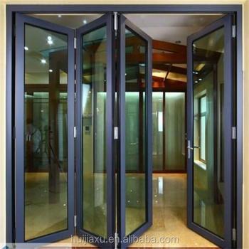 Cheap And Beautiful Aluminium Ykk Folding Door With Deep Grey Color ...