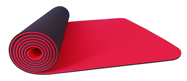 Sublimation Hemp Rubber Printed Soft TPE Yoga Mat Towel With Carrying Strap