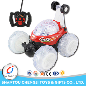 Low price four channel factory radio control stunt racing cars toys with light and music