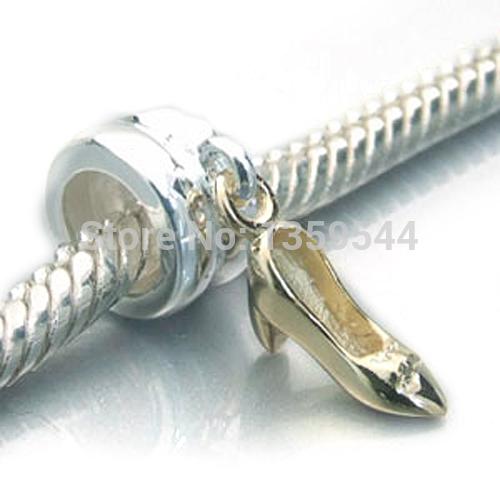 d39395c06ab0 Get Quotations · High Heel Shoe Dangle 100% 925 Sterling Silver Charm Beads  Fits Pandora European Charms Bracelet