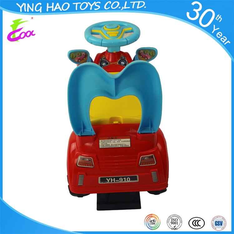 2016 newest model plastic baby foot to foot ride on car pedal & ride on car toys with 4 wheels