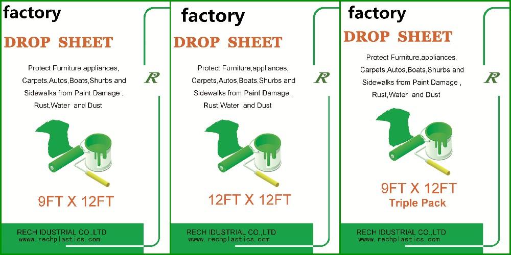 factory hdpe protective plastic drop sheet drop cloth paint dust sheet
