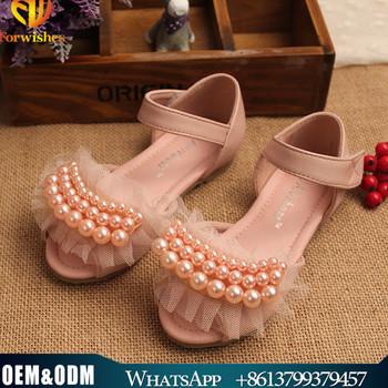 1e5e044ad8d summer girls sandals baby girl chiffon pearls princess party shoes kids  summer sandals