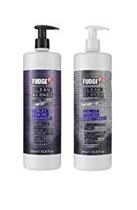 FUDGE CLEAN BLONDE VIOLET TONING SHAMPOO 1000ML & CONDITIONER 1000ML DUO PACK by Fudge