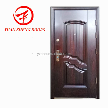 Egypt Style Steel Door With Stainless Doorsill Wood Color Paint Colors Doors Product On Alibaba