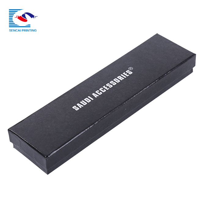 SENCAI hot sale custom printing jewelry box black necklace  box rigid cardboard gift box