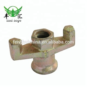 Formwork Anchor Nut Scaffold Wing Nut 15/17mm Tie Rod Nut Cast Iron