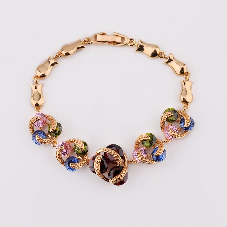 0a3d5ab2209d 2018 venta al por mayor de moda brazalete barato pulsera de diamantes joyas