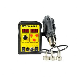2 in 1 SMD Soldering Rework Station with Hot Air Gun and Soldering Iron with Led Display MCH-898D