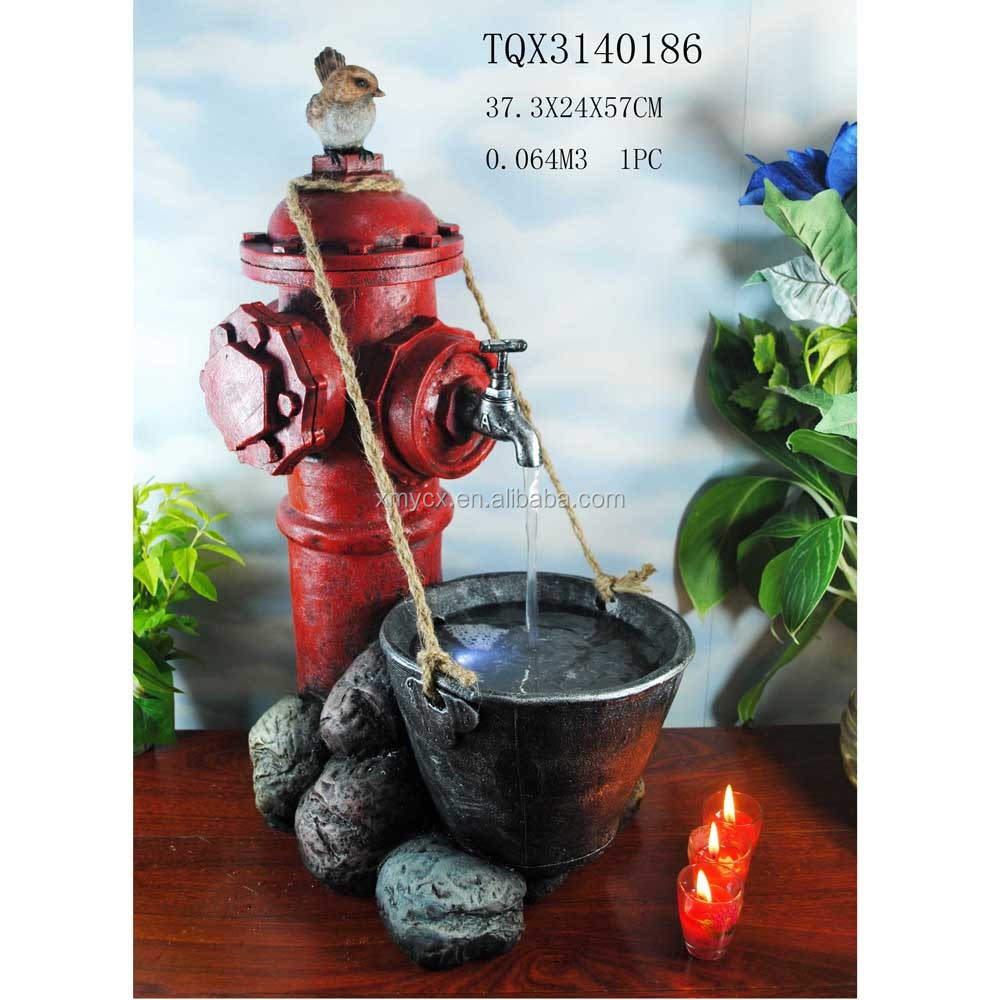 Modern Art Indoor Water Fountain Resin Garden Foutain