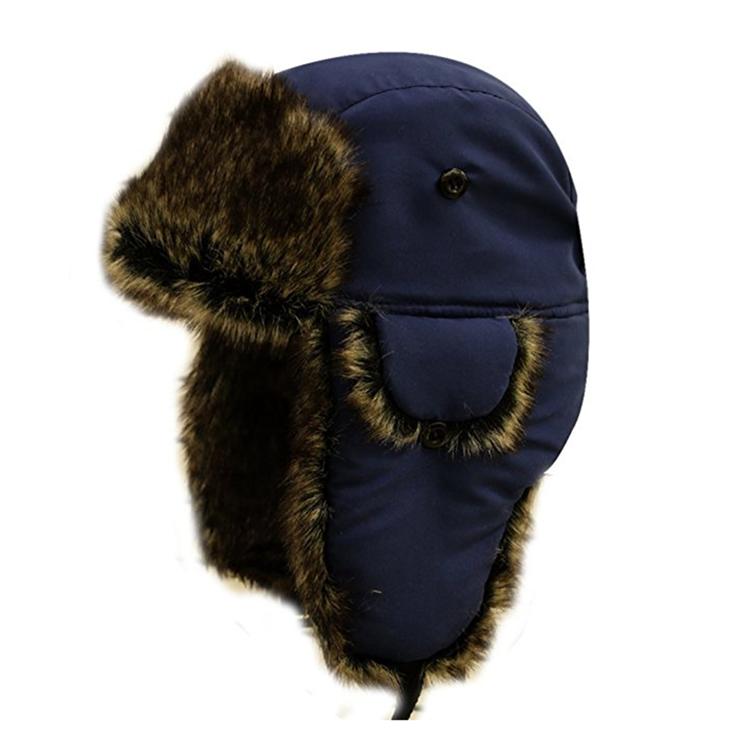c4078bed4f894 2018 New unisex hunting cap Ushanka russian ear flap outdoor winter trooper trapper  hats