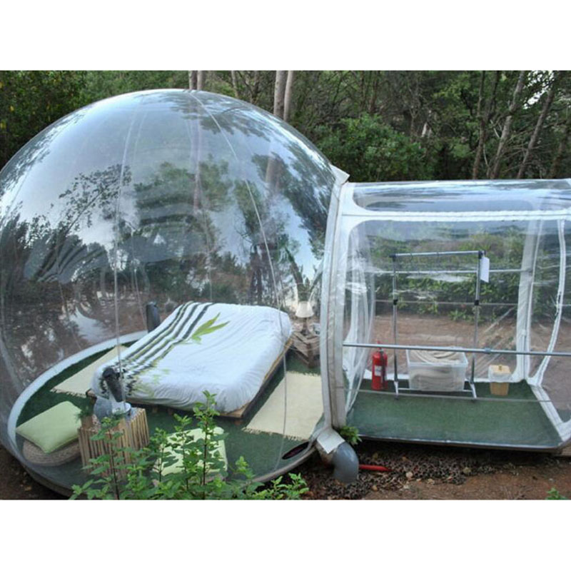 Inflatable Cube Tent Outdoor Party Clear Camping Customize Transparent Bubble Inflatable Yurt Tent