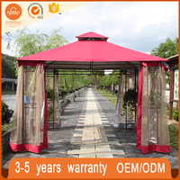 High quality deluxe aluminum frame outdoor gazebo garden tent with mosquito net