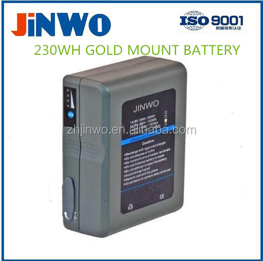 GOLD MOUNT LI-ION BATTERY 230WH 14.8V 15.5Ah Broadcasting Video Camera Battery Gold Mount Battery 230WH