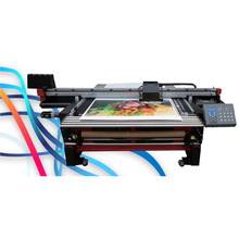 UV Double DX5 Printhead Roll to Roll Flatbed Printer