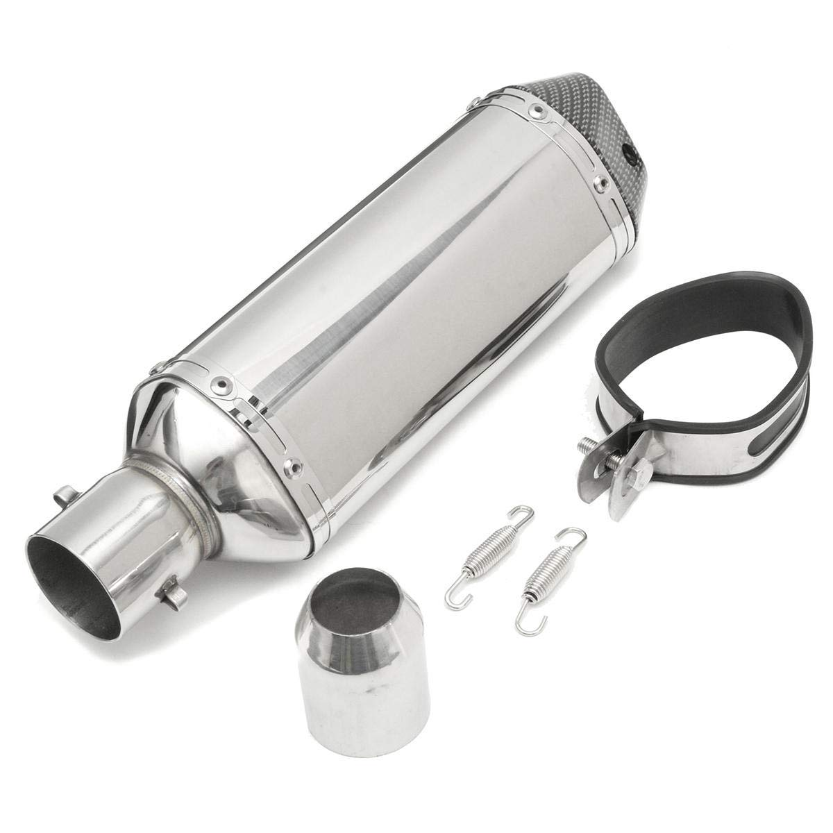 38-51mm Stainless Pipe Muffler Exhaust w/Silencer Motorcycle Dirt Street Bike - Body & Frame Exhaust Systems & Muffler Parts - 1 X Exhaust Pipe