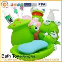 4pcs cartoon animal plastic bathroom set