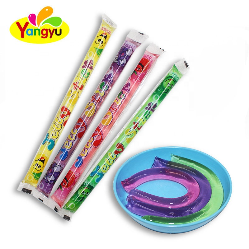 Long Stick Jelly Sweet Fruity Tastes Halal Assorted Jelly Stick
