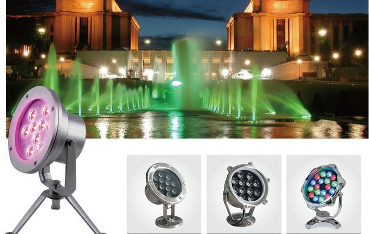 Factory Price Ip68 Ring Dmx Led Fountain Light Rgb 9w 12w 12v Ce ...