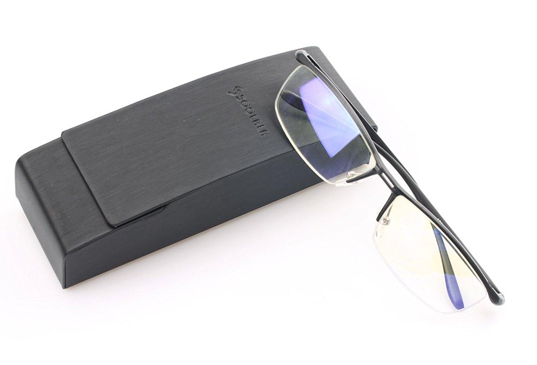 7c7d22dca9 Get Quotations · SOOLALA Mens Aluminum-magnesium Half Frame Quality Reading  Glasses