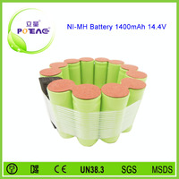 14.4v 1400mah rechargeable nimh battery pack