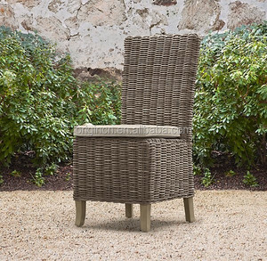 Simple designed luxury hotel dining room or outdoor furniture wholesale rattan wicker side chair