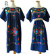 M42242 hand embroidered mexican dresses style 100% Cotton vintage mexican embroidered dress wholesale