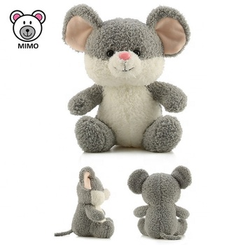 CE Certification Cartoon Cute Grey Mouse Plush Toy 2019 Promotion Gift Custom LOGO Soft Animal Stuffed Mouse Plush Toy Mouse