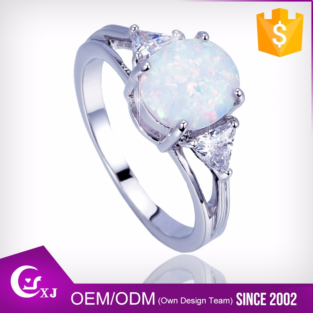Comfortable Design Women Jewelry Australian Opal Engagement Rings ...