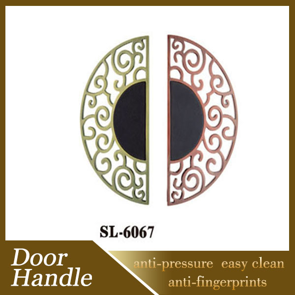 Chinese Style Antique Wooden Door Design Zinc Alloy Handle