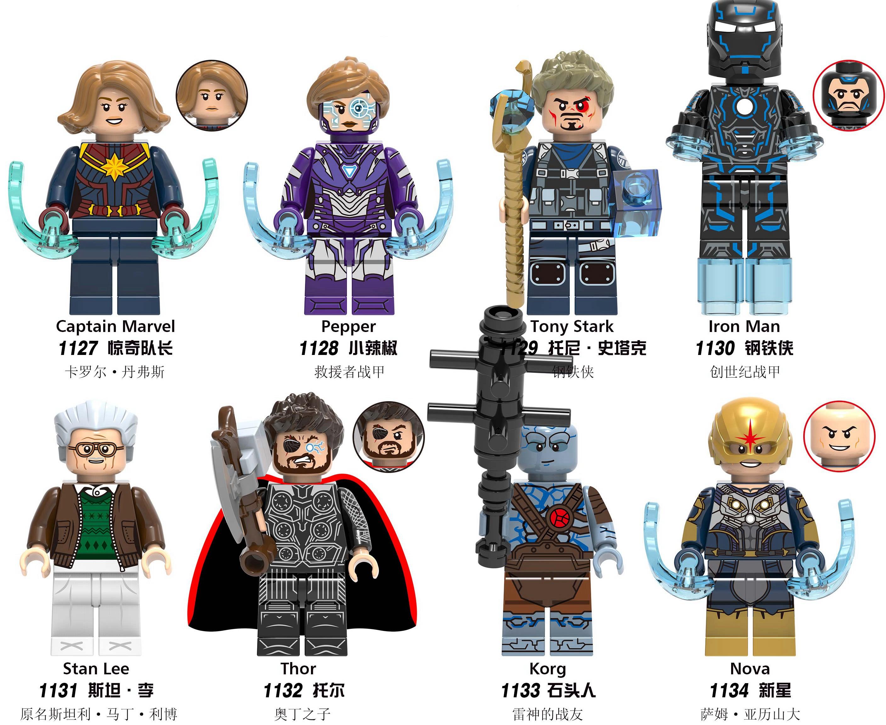 Bonecos De Ação blocos de construção super-heróis brinquedos novos e pequenos Comics Jogos Hobbies