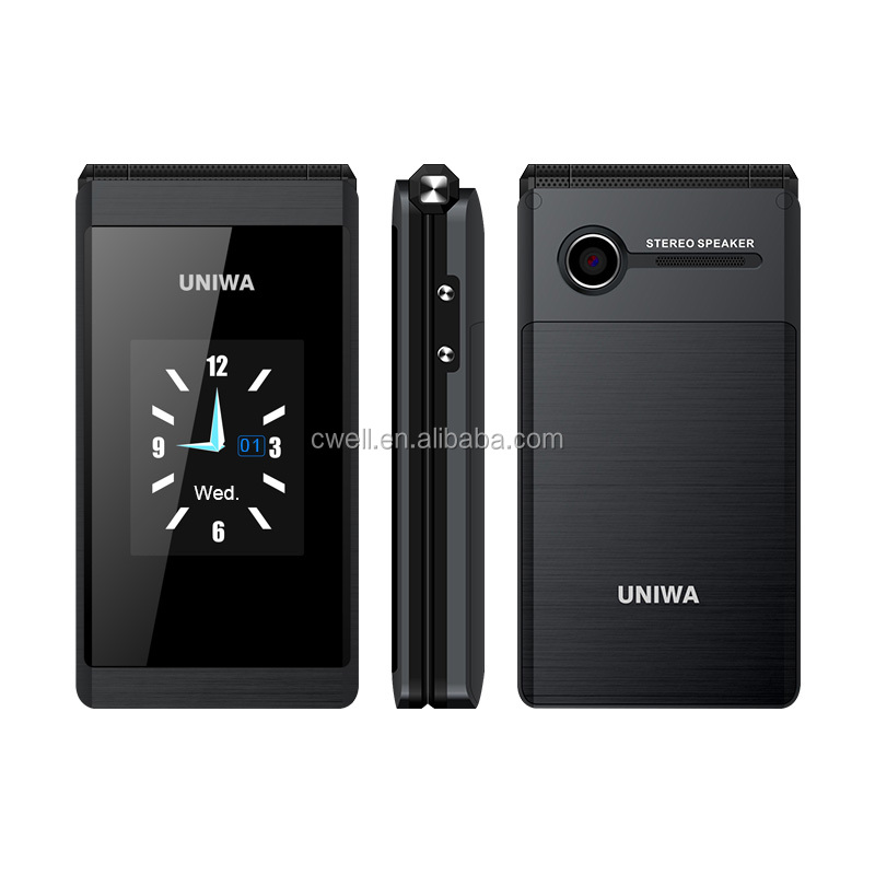 UNIWA X28 Double Screen Gold Best Cell Phones For Seniors