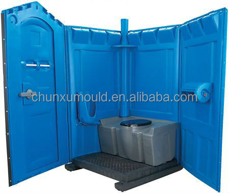 Roto-molded plastic public washingroom plastic WC portable toilet