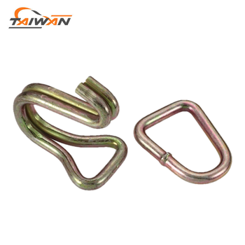 best price double J metal flat cord hook buckle