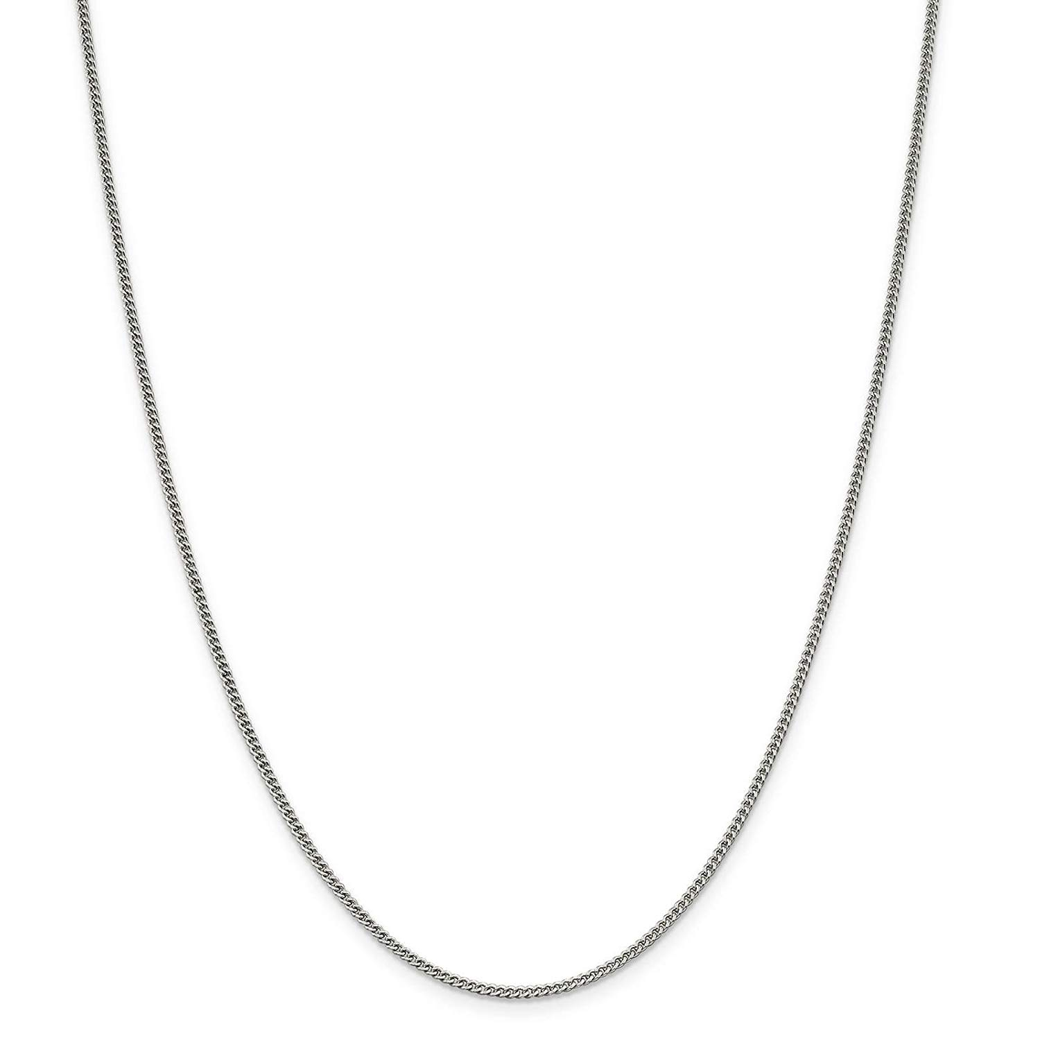 b5c9a2745e6 Get Quotations · 925 Sterling Silver Solid 1.7mm Polished Curb Link Chain  Necklace 7